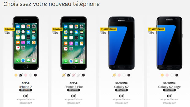 comparatif des prix des iphone 7. Black Bedroom Furniture Sets. Home Design Ideas
