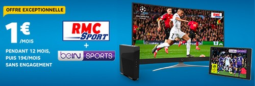 RMC Sport + Bein Sports à seulement 1€/mois